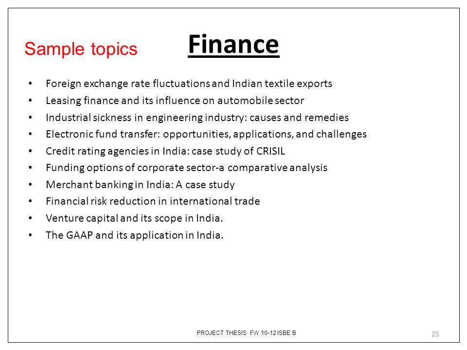 Example of thesis title related to finance cramster homework