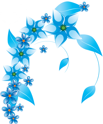 Blue Flowers Vector At Getdrawings Com Free For Personal Use Blue