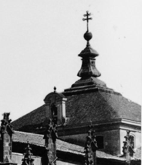 Cimborrio de la Catedral de Toledo en el siglo XIX. Fotografía de Jean Laurent (detalle)