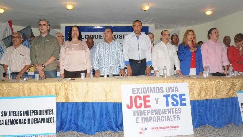 Bloque Opositor por la Democracia exige JCE imparcial