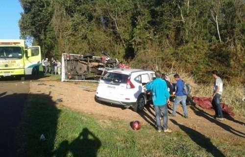 Ibema - Acidente na BR 277, mata um e deixa três feridos