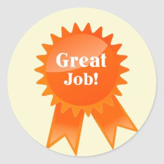 Great Job Ribbon Teacher Sticker sticker