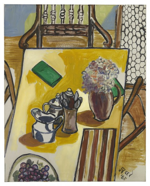 Still Life (Breakfast Table), 1965 Oil on canvas 30 x 24 inches (76.2 x 61 cm) (Courtesy of David Zwirner Gallery ©)