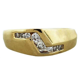 yellow gold diamond accented mens ring boca raton
