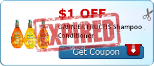 $1.00 off GARNIER FRUCTIS Shampoo & Conditioner