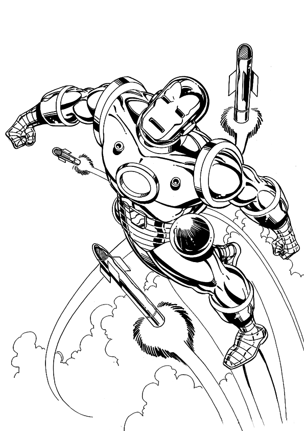 Iron Man Coloring Pages Coloring Page For Kids 15 Free