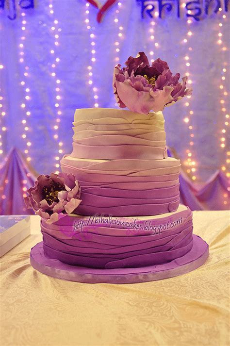 bihaliciouscakes: PURPLE OMBRE FONDANT WEDDING CAKE