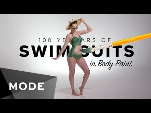 100 Years of Swimwear in Body Paint