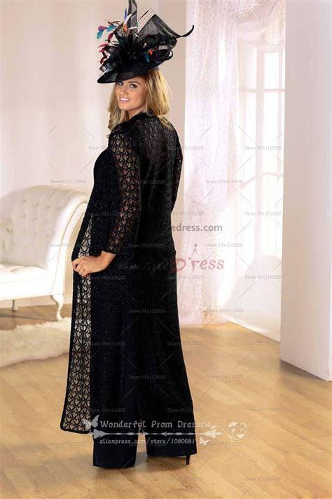 latest fashion black mother   bride dress pants suit