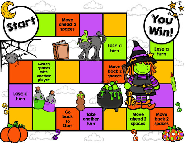 Halloween Reading Prehension Board Game – Games 4 Gains