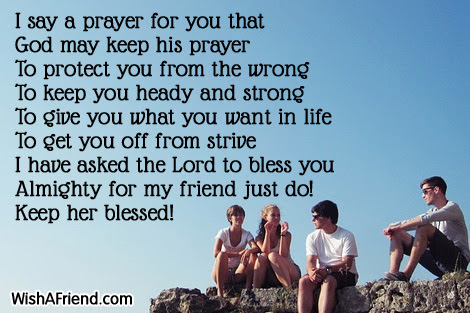 When I Say A Prayer Prayers For Friends
