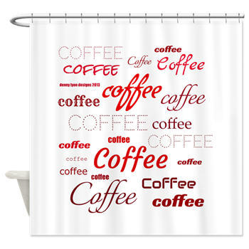 Magic Coffee Fonts Shower Curtain