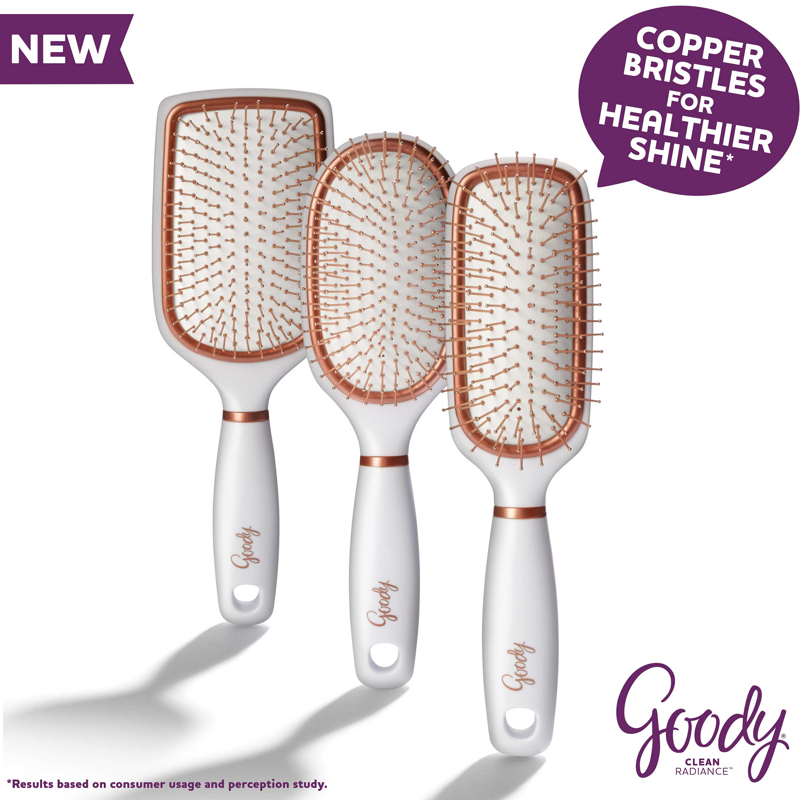 Copper bristles massage the scalp and work through the hair to reduce buildup that occurs in hair over time, and restores natural moisture balance in hair.