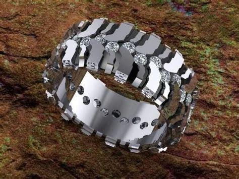 Wedding ring. Super Swamper Bogger tread. You could say I