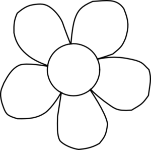 Simple Flower Clipart Outline