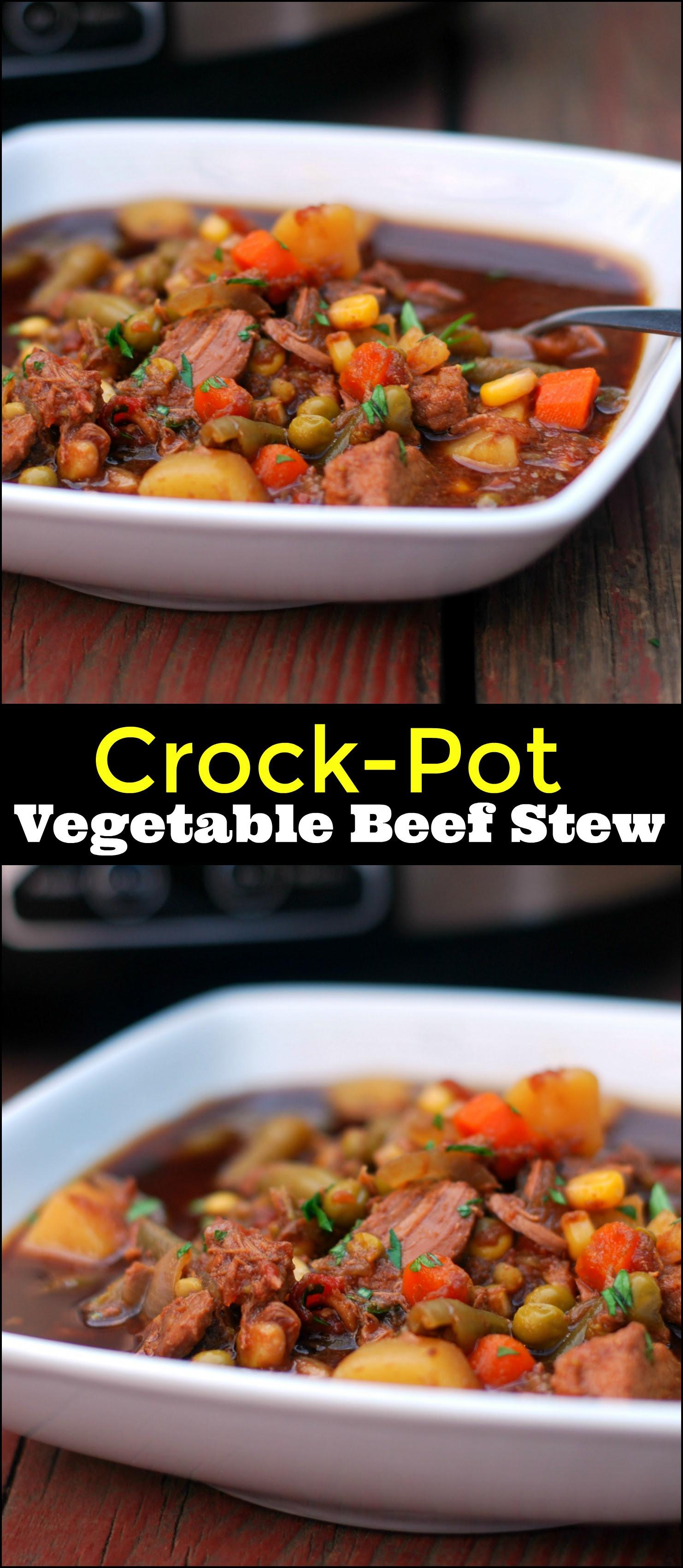 Crock Pot Vegetable Beef Stew - Aunt Bee's Recipes