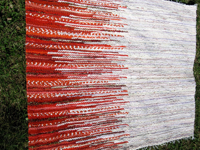 Handwoven rag rug wall decor 459' x 347' pastel by Gunaspalete