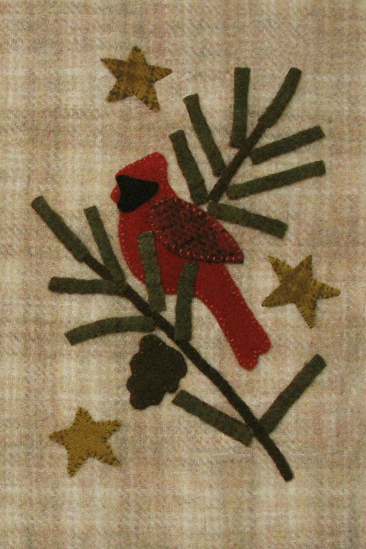 cardinal in the pines from Cotton Tales