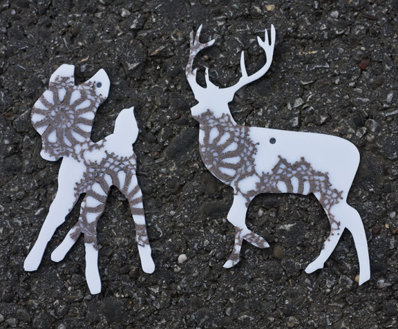 bambi and deer lace