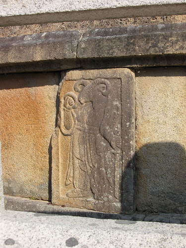 """The """"sheep"""" zodiac at General Gim Yu-Shin tomb@ Gyeongju"""