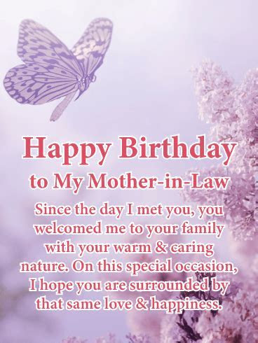 Warm & Caring Nature   Happy Birthday Card for Mother in