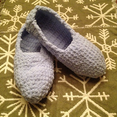 Bernat travel slippers