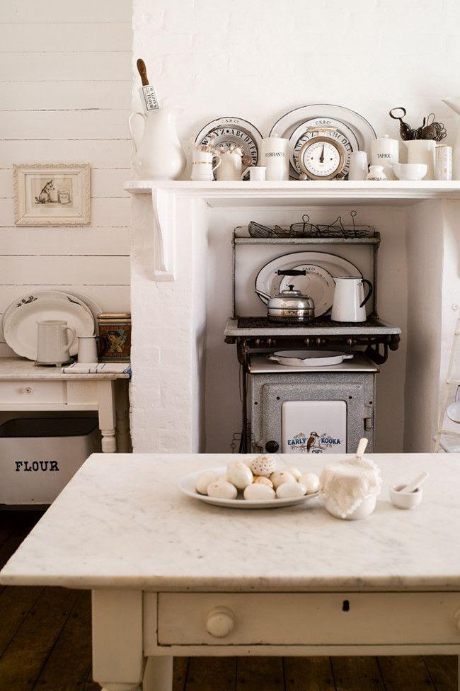 Tiny white kitchen- enough