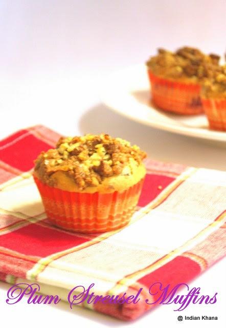 Plum Streusel Muffins