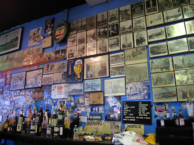The bar at Ruby's
