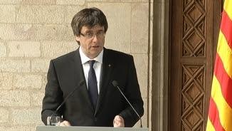 """Puigdemont ha qualificat de """"fet greu"""" la prohibició de l'estelada a la final de la Copa del Rei"""