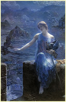 The Valkyrie's Vigil de Edward Robert Hughes