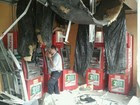 Dupla explode caixa eletronico em S. José (Carlos Santos/G1)