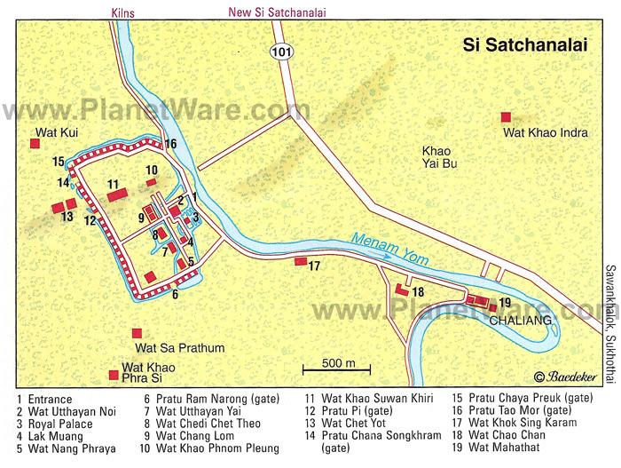 Resultado de imagen de Si Satchanalai Historical Park map