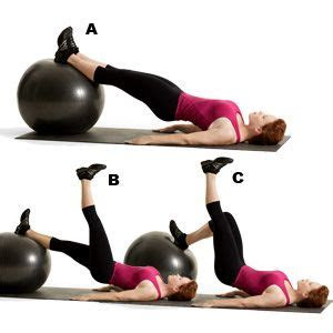 hip bridge  heel drag healthy fit butt workout
