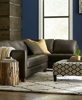 Milano Leather Living Room Furniture Sets & Pieces ...