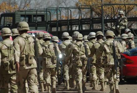 Militares en Ciudad Juárez. Foto: Eduardo Miranda