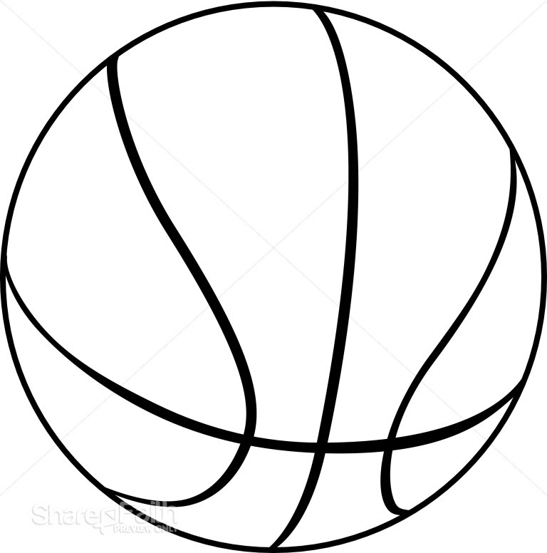 opoe dech: black and white basketball clipart