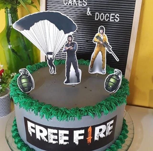 Imagem De Topo De Bolo Do Free Fire Compartilhar Bolo