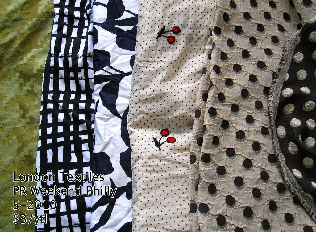 London Textiles 5-2010, $3/yd