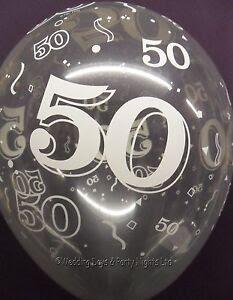 20 Clear 50th Birthday/Golden Anniversary Helium/Air ...