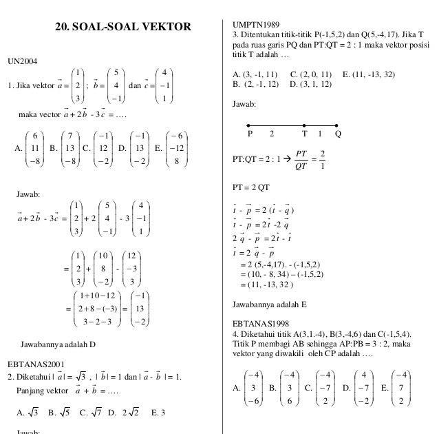 Contoh Soal Vektor Matematika Dan Pembahasannya Pdf Ilmu Pengetahuan 7