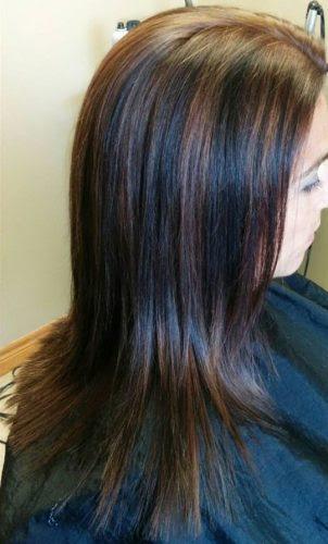 Braune Haare Mit Stranchen Helle Haarfarbe 2019