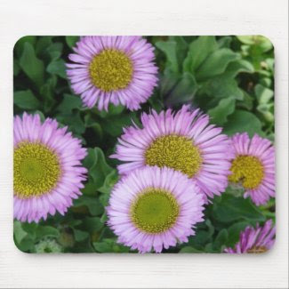 Light Purple with Yellow Flowers Mousepad mousepad