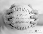 Father's Day Gift - Personalized gift for dad - Custom gift from son, for grandfather Boys room - baseball - matted 5x7 - inspiredartprints