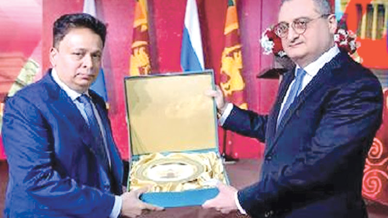 Sri Lankan envoy receives appreciation from Russian Govt.