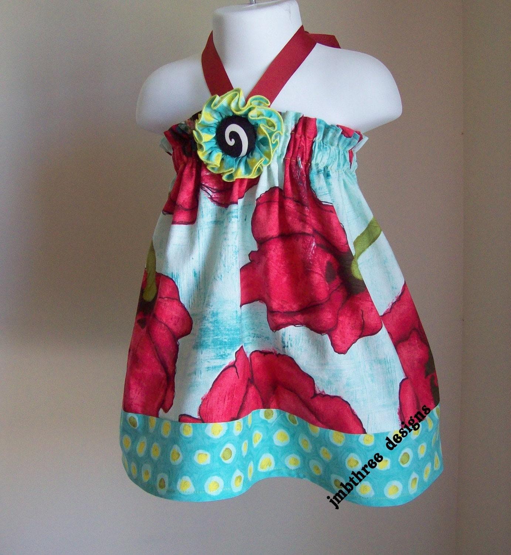 Precious Poppys Halter Dress by JMBthreedesigns
