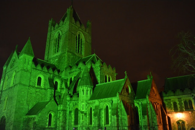 a green Christ Church cathedral in dublin - Tips for Celebrating St. Patrick's Day in Dublin, Ireland