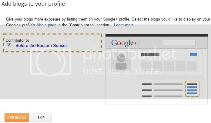 Seconds step of setting Google Authorship for Blogger