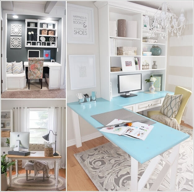 10 chic and beauteous home office desk ideas 10