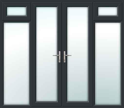 french doors side sash panels grey